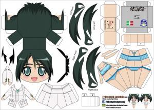 Papercraft de Anime - Francesca Lucchini. Manualidades a Raudales.