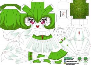Papercraft de Anime - Gardevoir. Manualidades a Raudales.