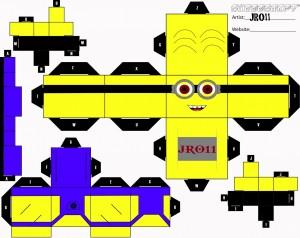 Cubeecraft de los famosos Minions. Manualidades a Raudales.