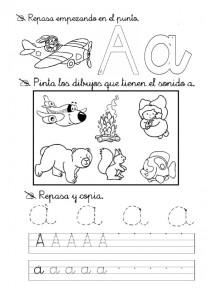 Ficha de Grafomotricidad con la letra a. Manualidades a Raudales.