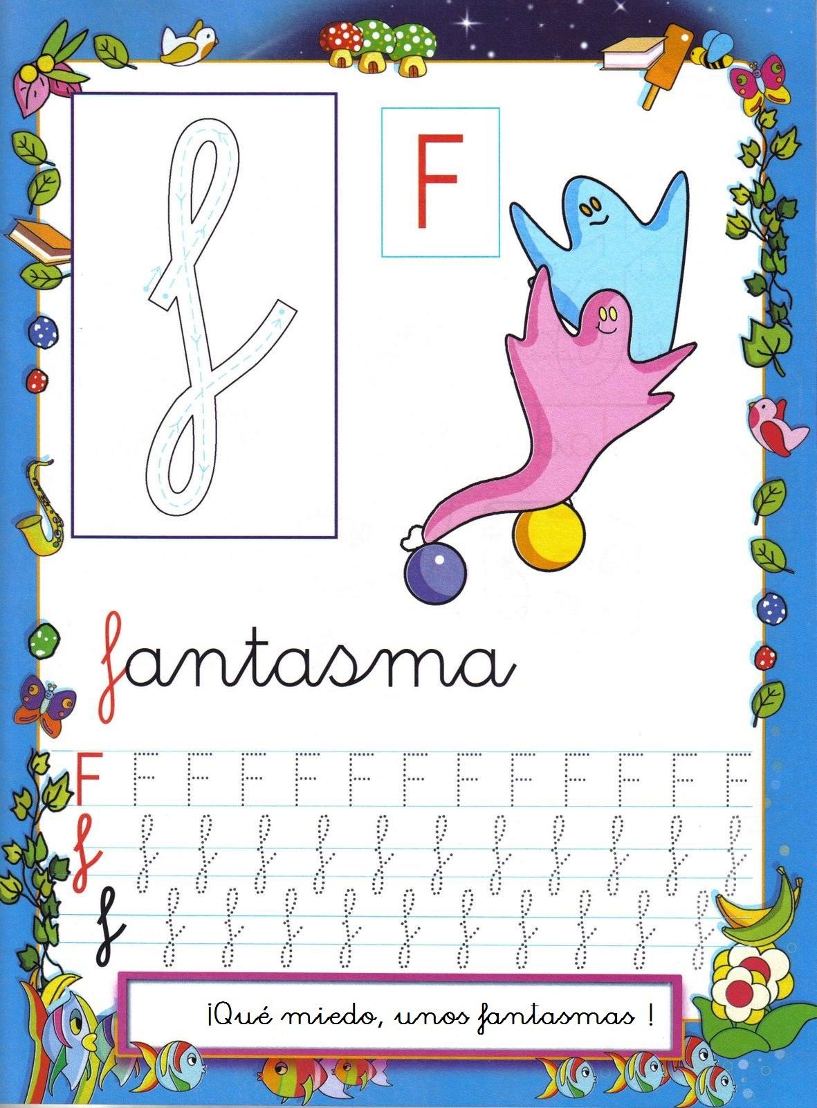 Grafomotricidad letra f - Manualidades a Raudales
