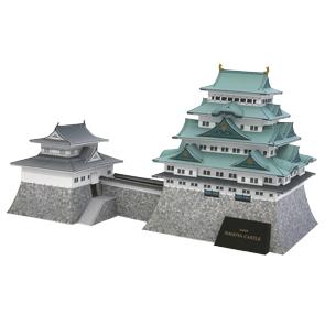 Papercraft building recortable del Castillo de Nagoya. Manualidades a Raudales.