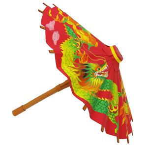 Papercraft de un paraguas chino. Manualidades a Raudales.