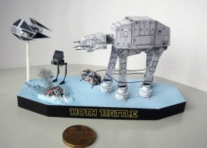 Papercraft de AT-AT walker de Star Wars. Manualidades a Raudales.