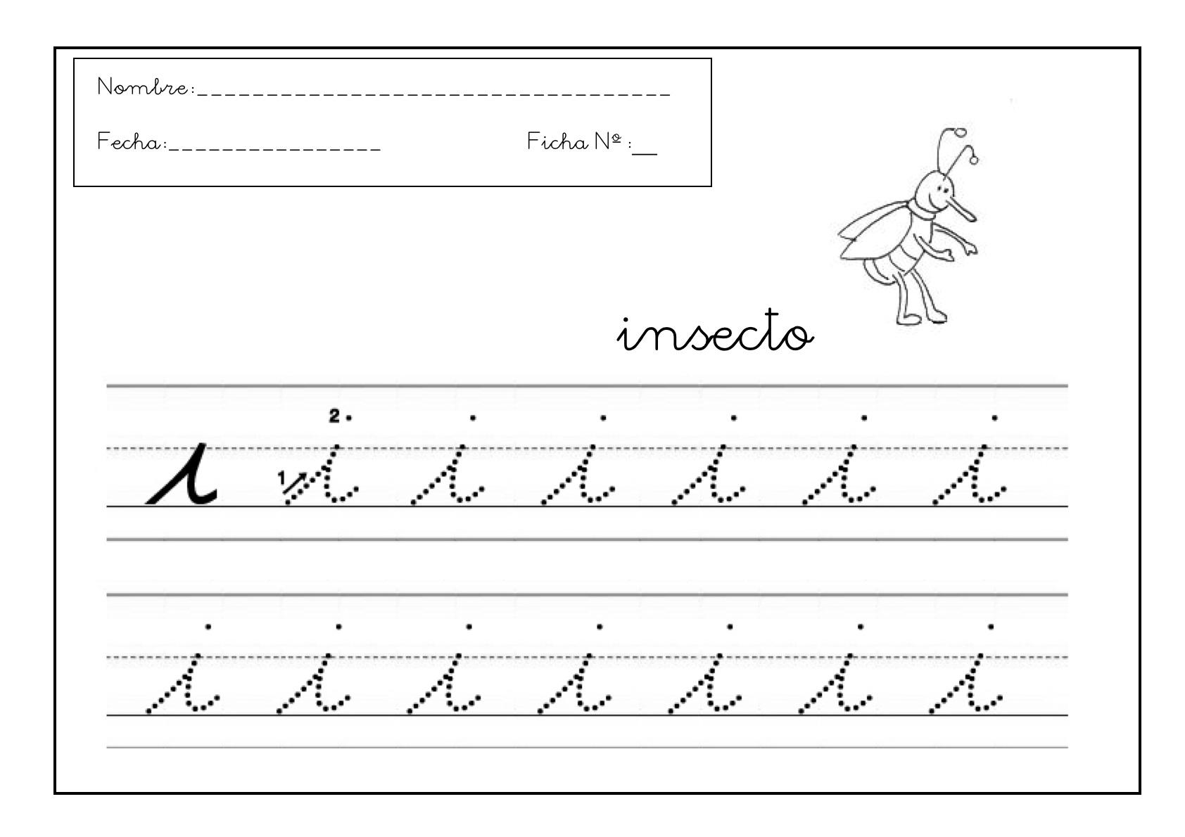 Grafomotricidad letra i 10  Manualidades a Raudales