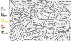 Colorear haciendo operaciones matemáticas.