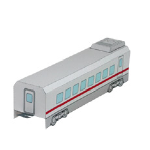 Papercraft de un Tren expreso (vagón central) / Express train (middle car). Manualidades a Raudales.