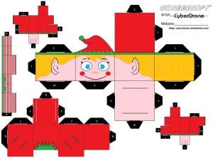 Cubeecraft de Navidad. Manualidades a Raudales.