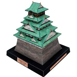 Papercraft building recortable del Castillo de Osaka. Manualidades a Raudales.
