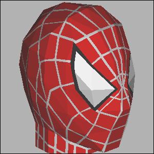 Papercraft de la cabeza de Spiderman. Manualidades a Raudales.