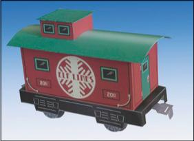 Papercraft del vagón de Santa Claus. Manualidades a Raudales.