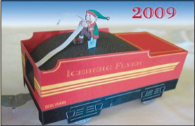 Papercraft del vagón con carbón de Santa Claus. Manualidades a Raudales.