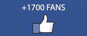 1700 Me Gusta en Facebook