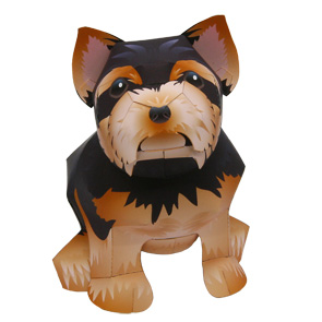 Papercraft del Perro Yorkshire Terrier / Yorkshire Terrier Dog. Manualidades a Raudales.