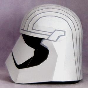 Papercraft imprimible y armable del Capitán Phasma de Star Wars. Manualidades a Raudales.