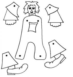 Marioneta letra A.