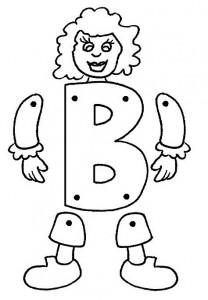 Marioneta letra B.