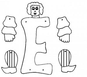 Marioneta letra E.