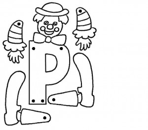 Marioneta letra P.