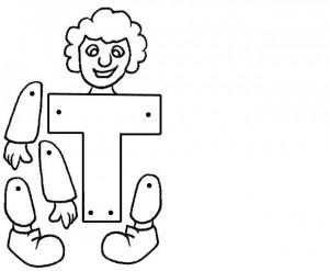 Marioneta letra T.