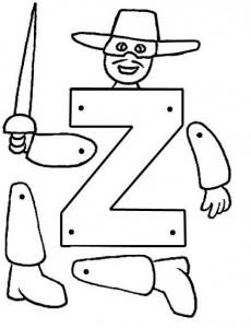Marioneta letra Z.