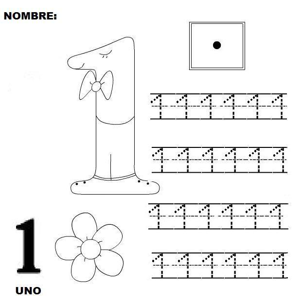 Grafomotricidad número 1 - 27 - Manualidades a Raudales