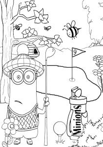 Dibujos para colorear de los Minions.
