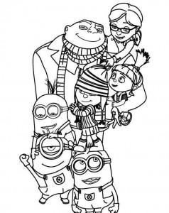 Dibujos para colorear de los Minions. Manualidades a Raudales.