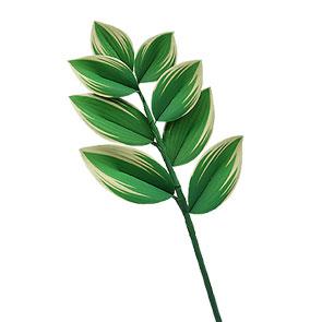 Papercraft de la planta Polygonatum odoratum. Manualidades a Raudales.