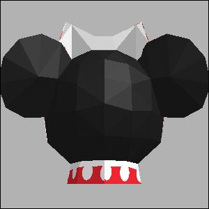 Papercraft imprimible y armable de Minnie de Disney. Manualidades a Raudales.