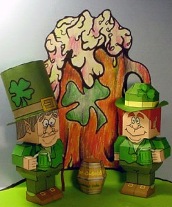 Papercraft de St Patrick´s Day. Manualidades a Raudales.
