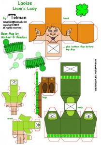 Papercraft imprimible y armable de St Patrick´s Day. Manualidades a Raudales.
