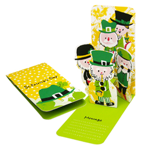 Tarjeta pop-up desplegable de San Patricio / St. Patrick´s day. Manualidades a Raudales.