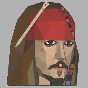 Papercraft imprimible y armable de Jack Sparrow. Manualidades a Raudales.