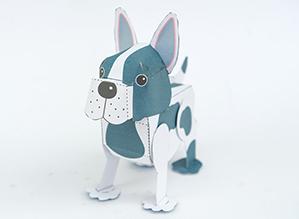 Papercraft imprimible y armable de Cachorro con movimiento. Manualidades a Raudales.