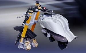Papercraft imprimible y armable de la motocicleta Yamaha YZF-R1M. Part 2. Manualidades a Raudales.