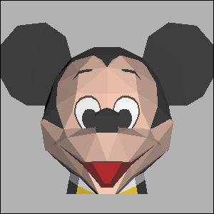 Papercraft imprimible y recortable de Mickey Mouse de Disney. Manualidades a Raudales.