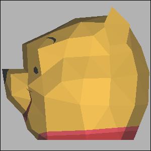 Papercraft imprimible y armable de la cabeza de Winnie the Pooh. Manualidades a Raudales.