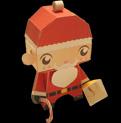 Papercraft imprimible y recortable de Santa Claus infantil. Manualidades a Raudales.