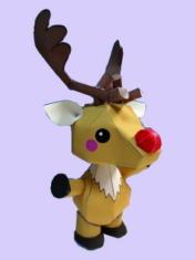 Papercraft del reno Rudolph. Manualidades a Raudales.