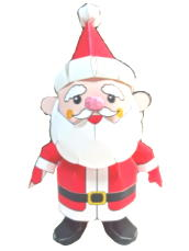 Papercraft de Santa Claus. Manualidades a Raudales