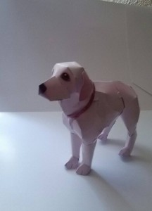 Papercraft del Perro Golden Retriever. Manualidades a Raudales.