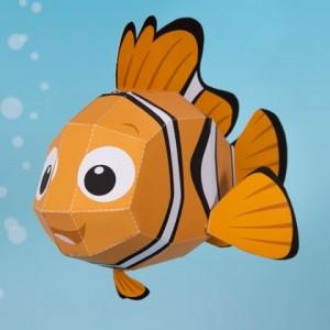 Papercraft del famoso Nemo de Disney. Manualidades a Raudales.