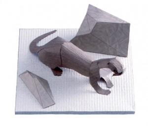 Papercraft imprimible y armable de una nutria japonesa. Manualidades a Raudales.
