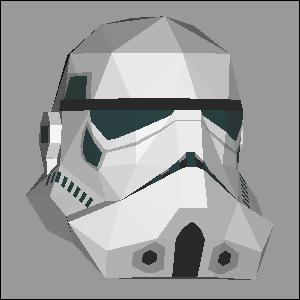 Papercraft imprimible y armable de un Stormtrooper de Star Wars. Manualidades a Raudales.