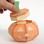 Papercraft imprimible y armable de Jack-o'-lantern para Halloween. Manualidades a Raudales.