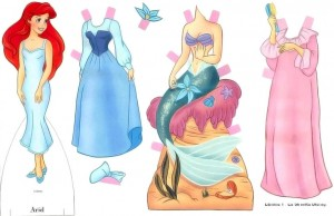 Recortable de la Sirenita de Disney. Manualidades a Raudales.