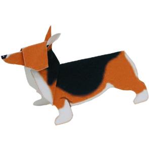 Papercraft del perro Corgi Gales. Manualidades a Raudales.