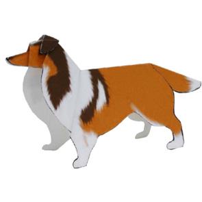 Papercraft del Perro Shetland. Manualidades a Raudales.