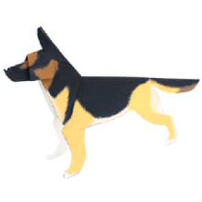 Papercraft del Perro Pastor Alemán. Manualidades a Raudales.
